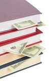 Cup of books with dollars 2 Royalty Free Stock Image