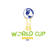 Cup brasil 2014 illustration. World cup brasil 2014 illustration art Royalty Free Stock Images