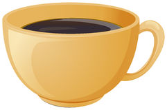 A cup of brewed coffee. Illustration of a cup of brewed coffee on a white background vector illustration