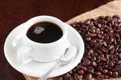 Cup of brewed coffee Royalty Free Stock Photos
