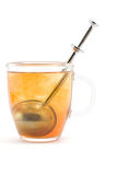 Cup of brewing tea Stock Image