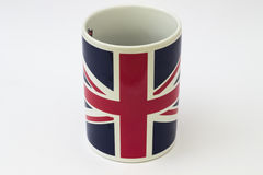 Cup with British flag Stock Photo