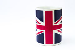 Cup with British flag Stock Photography