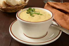 Cup of broccoli soup Royalty Free Stock Image