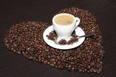 Cup of brown coffee. Close-up cup of brown coffee, background texture, close-up Stock Photo