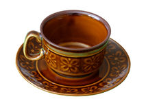 Cup Brown Isolated stock photography