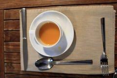 Cup of buckthorn tea Stock Image