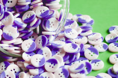 Cup of buttons Stock Images