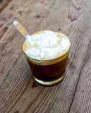 A cup of cafe latte Royalty Free Stock Photography