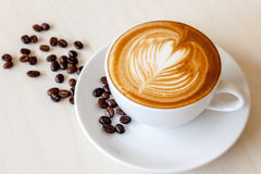 A cup of cafe' latte Royalty Free Stock Photography