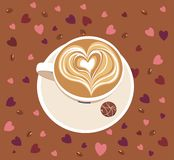 Cup of caffee latte Royalty Free Stock Photo
