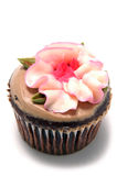 Cup cake. With flower frosting Stock Images