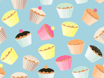 Cup cake background Stock Image