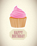 Cup cake birthday Royalty Free Stock Images