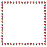 Cup cake border Stock Photo