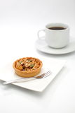 Cup cake , caramel nuts tart Royalty Free Stock Photo