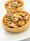 Cup cake , caramel nuts tart Royalty Free Stock Image