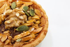 Cup cake , caramel nuts tart Royalty Free Stock Photos