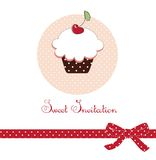 Cup Cake Card vector illustration