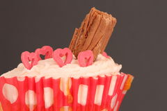 Cup cake with chocolate Stock Photography