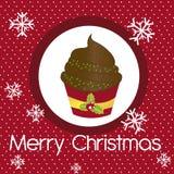 Cup cake christmas Stock Image