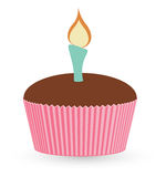 Cup Cake - Christmas Vector Illustration Royalty Free Stock Image