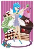 Cup cake fairy stock photos