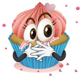 A cup cake. Illustration of a cup cake on a white background Stock Image