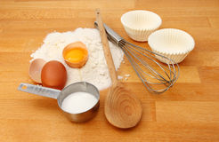 Cup cake ingredients Royalty Free Stock Photo