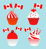 Cup cake for the national day of Canada Royalty Free Stock Photography