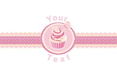 Cup cake on a pink Royalty Free Stock Photography