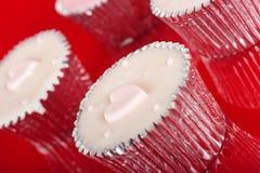 Cup cake reflection Stock Photos