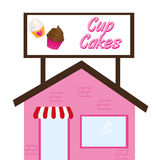 Cup cake restaurant Royalty Free Stock Images