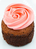 Cup cake rose cream Stock Images
