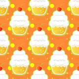 Cup cake seamless pattern Royalty Free Stock Image