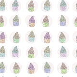 Cup cake seamless pattern Royalty Free Stock Photo
