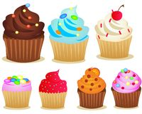 Cup cake set Royalty Free Stock Photos