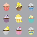 Cup cake set Stock Photo