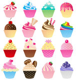 Cup cake  set Stock Images