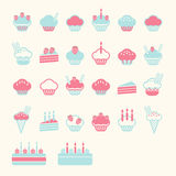 Cup cake soft colour stock illustration