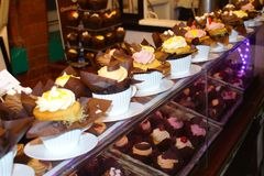 Cup cake stall Stock Images