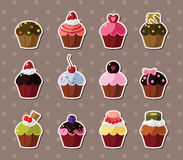 Cup-cake stickers Royalty Free Stock Images