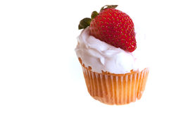 Cup cake with strawberry Stock Photography