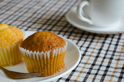 Cup Cake for Tea Break. Butter cup cake and a cup of tea is easy meal for tea Break time Royalty Free Stock Image