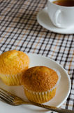 Cup Cake for Tea Break. Butter cup cake and a cup of tea is easy meal for tea Break time Royalty Free Stock Images