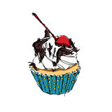 Cup cake vector Stock Photography