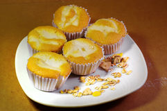 Cup cake with young coconut Royalty Free Stock Photo