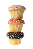 Cup Cakes. On White Background Royalty Free Stock Photos