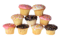 Cup Cakes. On White Background Royalty Free Stock Photography