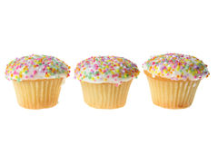 Cup Cakes. On White Background Stock Images